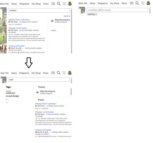 tag search bar